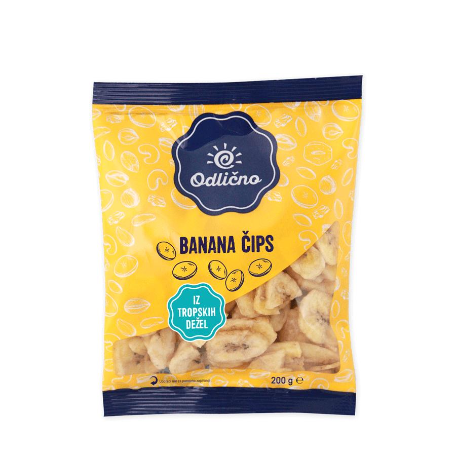 Banana čips Odlično, 200 g