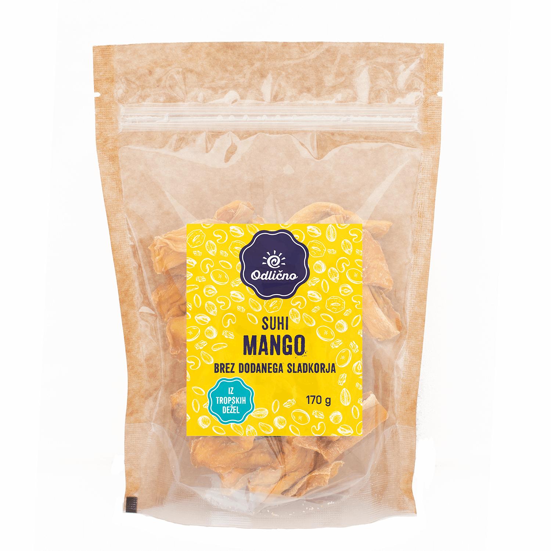 Suhi mango brez dodanega sladkorja Odlično, 170 g