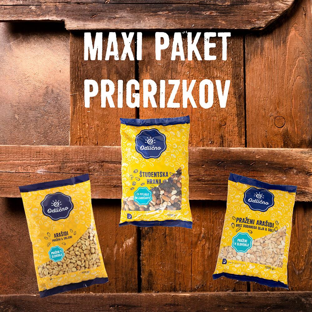 MAXI PAKET PRIGRIZKOV 3 × 1000 g