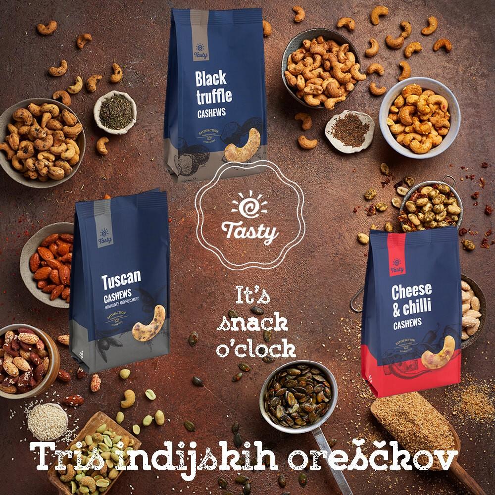 Tris indijskih oreščkov Tasty 3 x 150 g